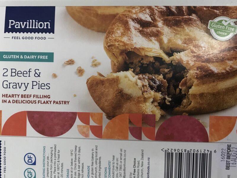 Pavillion Beef and Gravy Pies recalled
