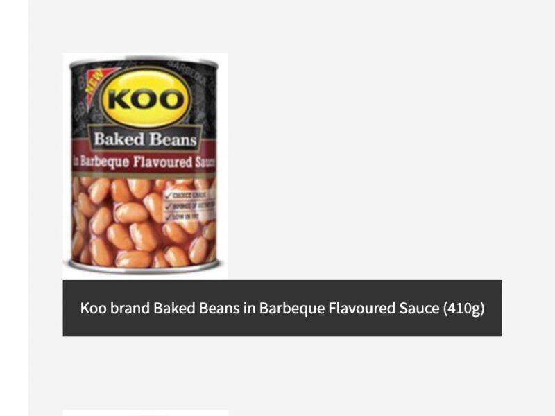 Koo, Hugo's, Helderberg brand recall