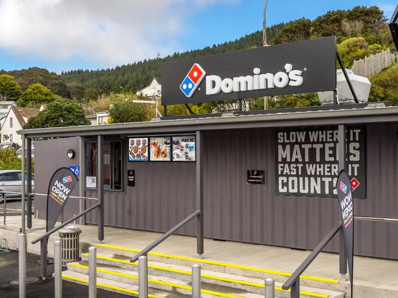 Domino's opens first container store