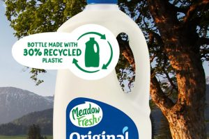 Meadow Fresh makes recycled plastic moves for milk bottle